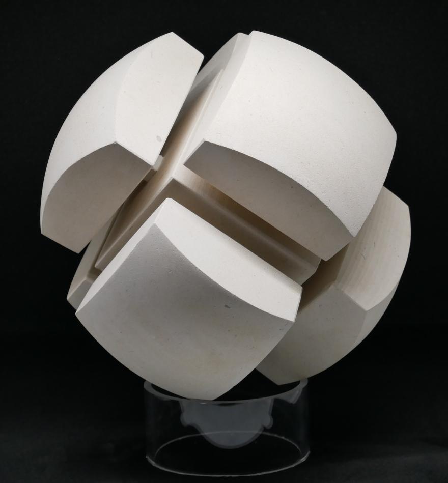 sculpture boule carré