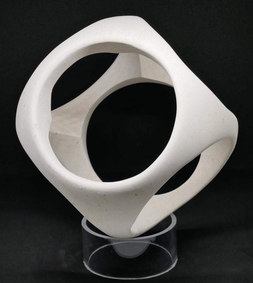 sculpture boule cube